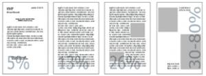 esempi di copertura toner - sistema di stampa