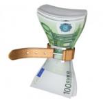 soldi stretti da una cinta - costi di stampa - sistema di stampa
