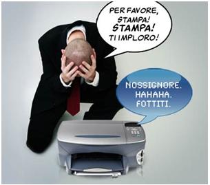 stampante inceppata