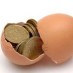 uovo rotto con monete dentro - calcolo costo copia stampante - sistema di stampa