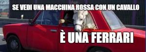 auto rossa con dentro un cavallo - scegliere stampante - sistema di stampa